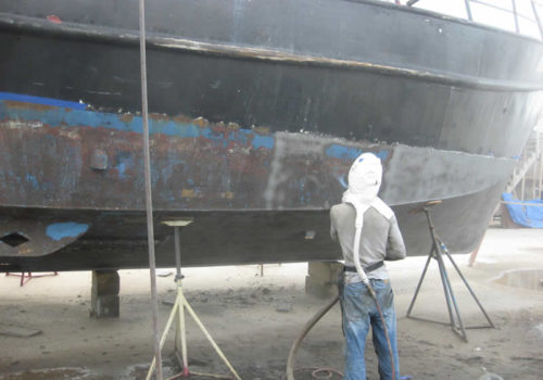 Large Vessel Sandblasting And Painting
